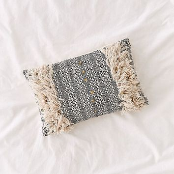 Woven Coin Bolster Pillow | Urban Outfitters