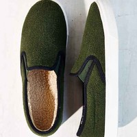 Jeffrey Campbell Ray Wool Slip-On Sneaker- Green