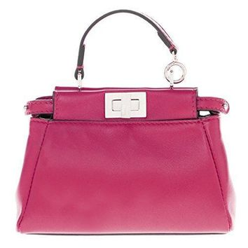 Fendi Women's Peekaboo Micro Satchel Bag Fuchsia