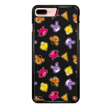 Fnaf Freddy S Faces Pattern Cute Kawaii Chibi iPhone 7 Plus Case