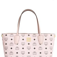 MCM 'Visetos Collection - Medium Project' Logo Stamped Coated Canvas Shopper