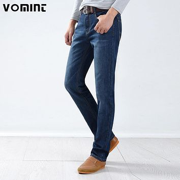 New Mens Casual Business Light Washed Jeans Regular Straight fit Pocket Leather Details Full Length Jean