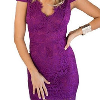 Purple Majesty Dress