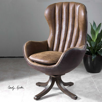 Mid-century Swivel Desk Chair