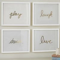 Gold Sentiment Inserts | Pottery Barn Kids