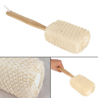 Natural Sisal Long Handle Bath Shower Brush.