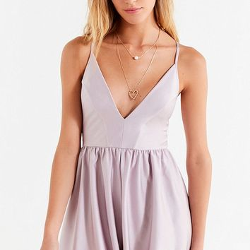 UO Gianni Plunging Romper | Urban Outfitters