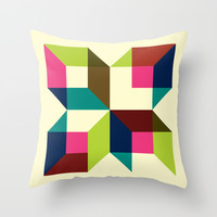 Boxy Music (2010) Throw Pillow by Gary Andrew Clarke