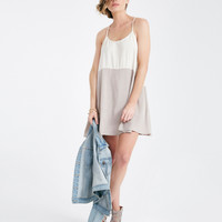 Colorblocked Slip Dress With Dropped Armholes | Wet Seal