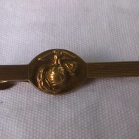 1930's NCO US Marine Insignia Tie Clip Collectible Nautical Military Soldier Armed Forces Unique Collector Gift Mens Fashion Accessory