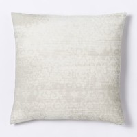 Velvet Scroll Pillow Cover - Ivory