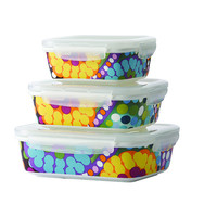 Set of 3 French Bull® Oven To Table Porcelain Serving/Storage Containers - 2 Patterns