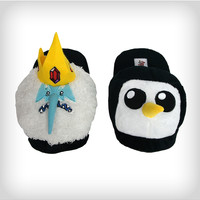 Adventure Time Ice King and Gunter Mix and Match Adult Slippers