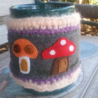 Mug Cover Cozy, Crocheted Mug Coffee Cozy, Mug Warmer cozie.