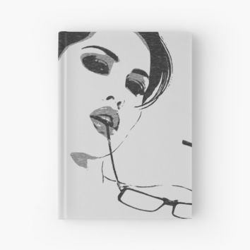 'Nerdy is the new sexy, black and white erotic' Hardcover Journal by sexyjustsexy