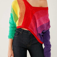 Silence + Noise Rainbow Chenille Sweater | Urban Outfitters