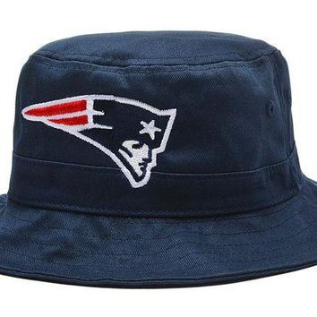 DCCKBE6 New England Patriots Bucket Hats Blue