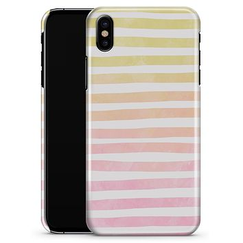 Gold to Pink WaterColor Ombre Stripes - iPhone X Clipit Case