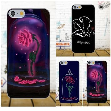Diwqxr Soft Fashion Phone Case For Galaxy A3 A5 A7 J1 J3 J5 J7 2016 2017 S5 S6 S7 S8 S9 edge Plus Beauty And The Beast Rose