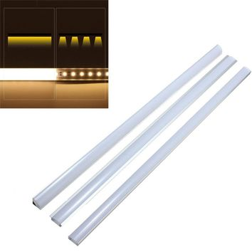 U V YW Style 50cm Aluminium Milk Cover Rigid Channel Holder For LED Strip Light Bar Under Cabinet Cupboard Kitchen Bathroom Lamp