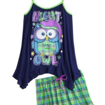 Owl Tank And Short Pajama Set | Girls Short Sets Pajamas | Shop Justice