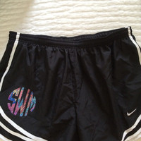 Lilly Pulitzer Circle Monogram Black Nike Shorts