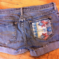 Diy tribal pocket shorts size 1 by DiyShortsShoppe on Etsy