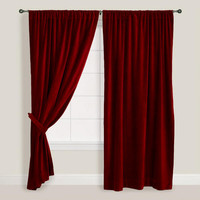 Wine Velvet Curtain