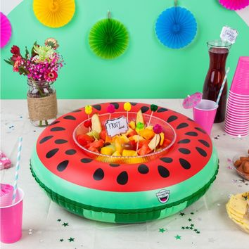 Inflatable Watermelon Serving Ring (Perfect for Chips, Fruit, Ice, Party Favors) - PRE-ORDER, SHIPS LATE MARCH