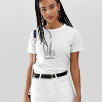 New Look new york skyline tee in white at asos.com