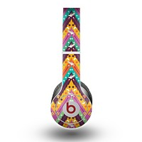 The Modern Colorful Abstract Chevron Design Skin for the Beats by Dre Original Solo-Solo HD Headphones