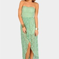 Sophie Lace Maxi Dress - Mint