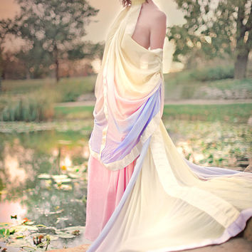 Padme Pastel Lake Star Wars Gown Custom Wedding Costume or Event