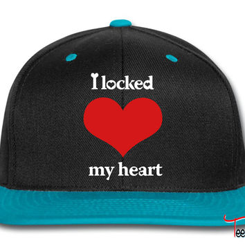 i locked my heart i found the key left Snapback