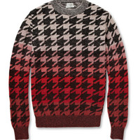 Paul Smith Slim-Fit Ombre Houndstooth Wool-Blend Sweater | MR PORTER