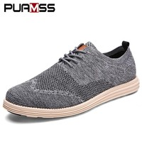 Mens Casual Men Business Formal Brogue Weave Carved Oxfords Breathable Light Shoes