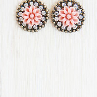 Carnation Crystallized Stud Earring