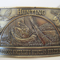Vintage Peterson Hunting Buckle Chicago 1976 Belt Buckle
