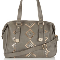 Geo Studded Holdall - Bags & Purses - Bags & Accessories - Topshop