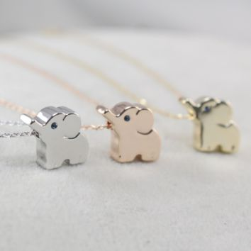 Cute Unique Lover's Elephant Pattern Necklace