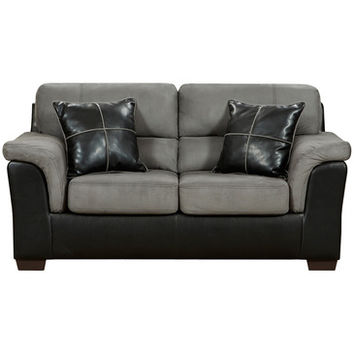 Flash Furniture Exceptional Designs Laredo Graphite Microfiber Loveseat