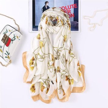 Women's Shawls Print Folral Scarf Rayon Wrap Soft Pashmina Sunscreen Shawl Bandana Summer Beach Scarves Ultra Long 70x190cm