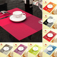 New Fashion PVC Dining Table Placemat Europe Style Kitchen Tool Tableware Pad Coaster Coffee Tea Place Mat E2shopping