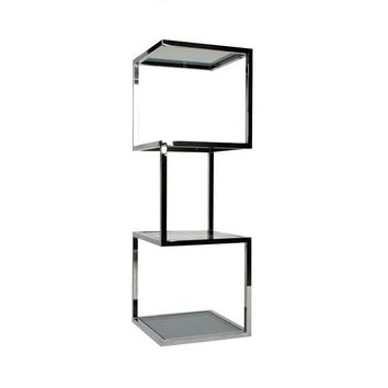 Pre-owned Milo Baughman Styled Chrome Cube Stacked Etagere
