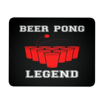 """Beer Pong Legend Mouse Pad 9.25"""" x 7.75"""" 1/4 Thickness Durable Neoprene"""