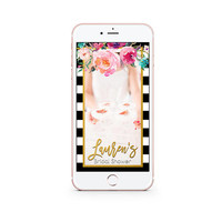 Bridal Shower Snapchat Geofilter | Custom Geofilter | Bridal Shower Decor | Spring Floral Bridal Shower Filter | Personalized Wedding Filter