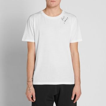 Saint Laurent Signature Script Tee