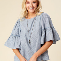 Altar'd State Jenson Top - Striped - Tops - Apparel