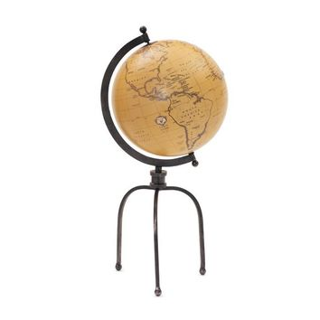 Wrought Iron Globe on Tripod Stand