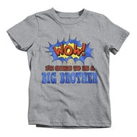 Shirts By Sarah Boy's Big Brother To Be T-Shirt Comic Style Baby Reveal Shirt
